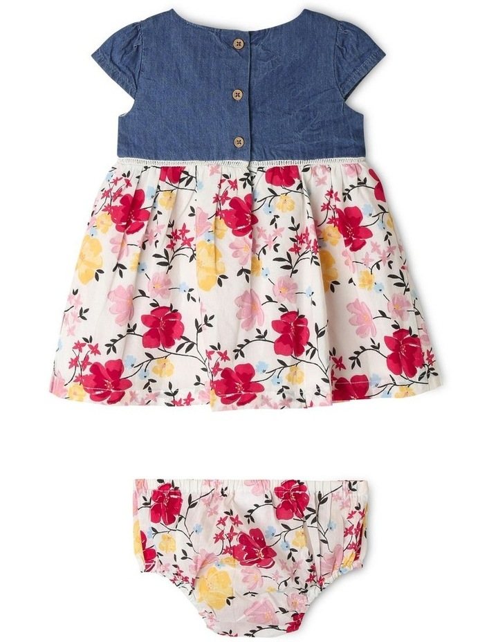 Cap Sleeve Chambray & Floral Dress image 4
