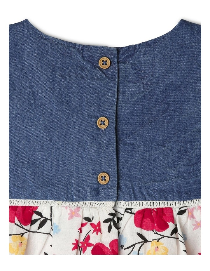 Cap Sleeve Chambray & Floral Dress image 5