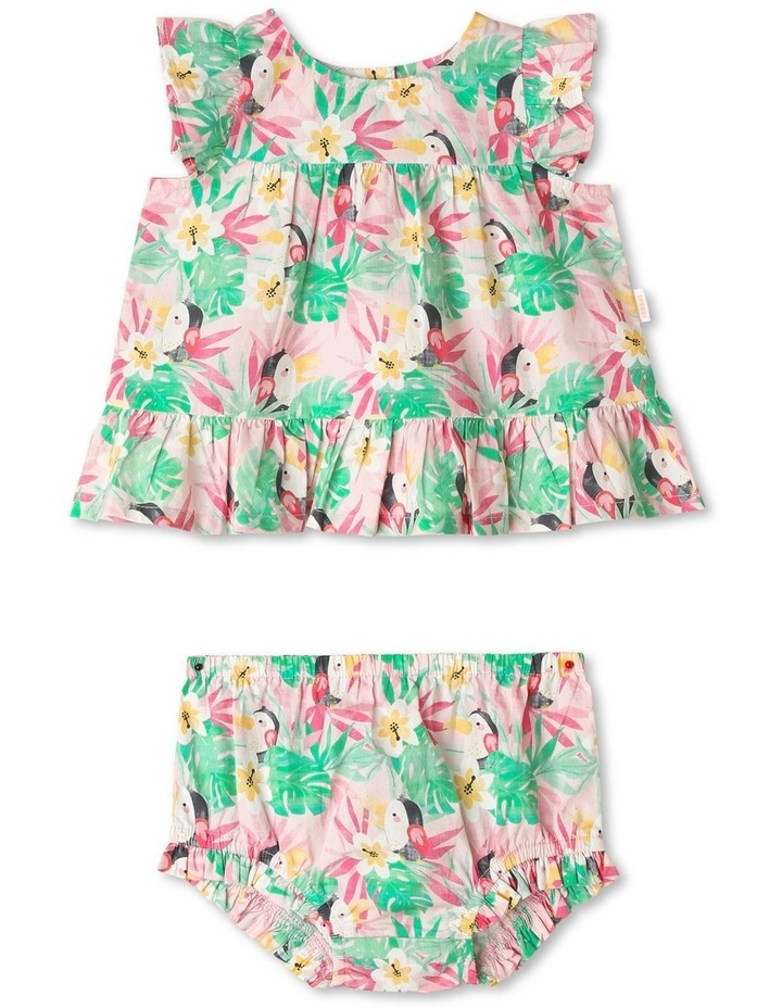 Hawaiian Toucan Ruffle Dress image 1