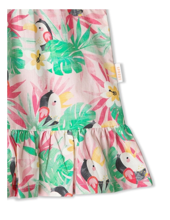 Hawaiian Toucan Ruffle Dress image 4