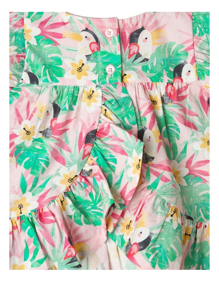 Hawaiian Toucan Ruffle Dress image 5