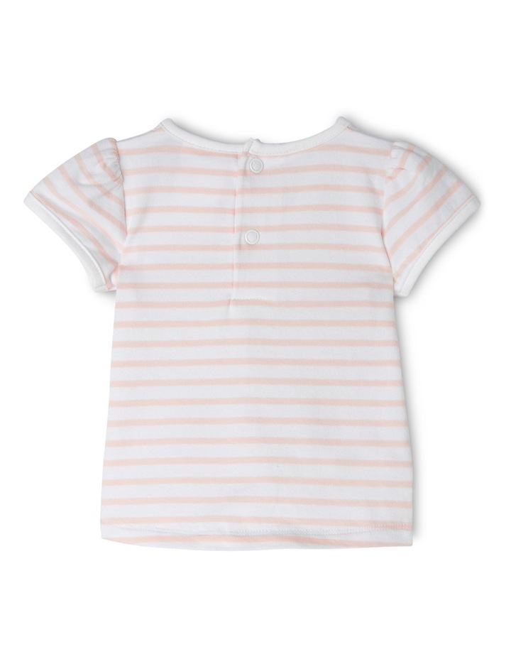 Applique Cap Sleeve Top - Butterfly/Pink Stripe image 2