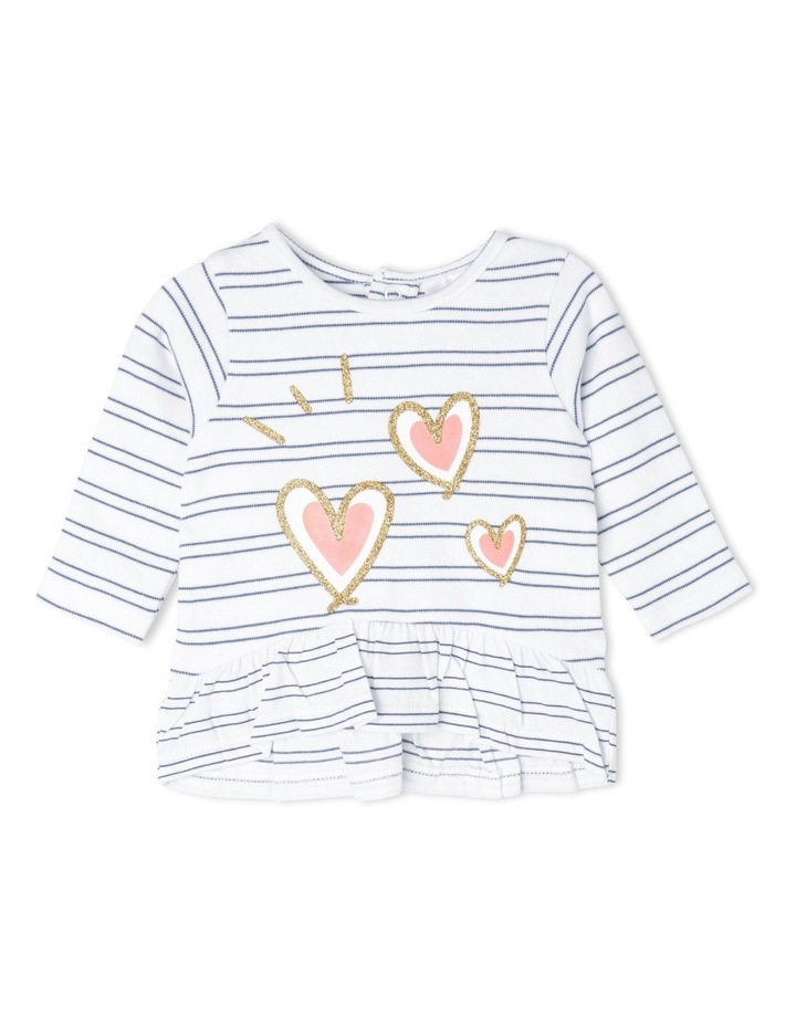 Heart and Stripe Frill Top image 1