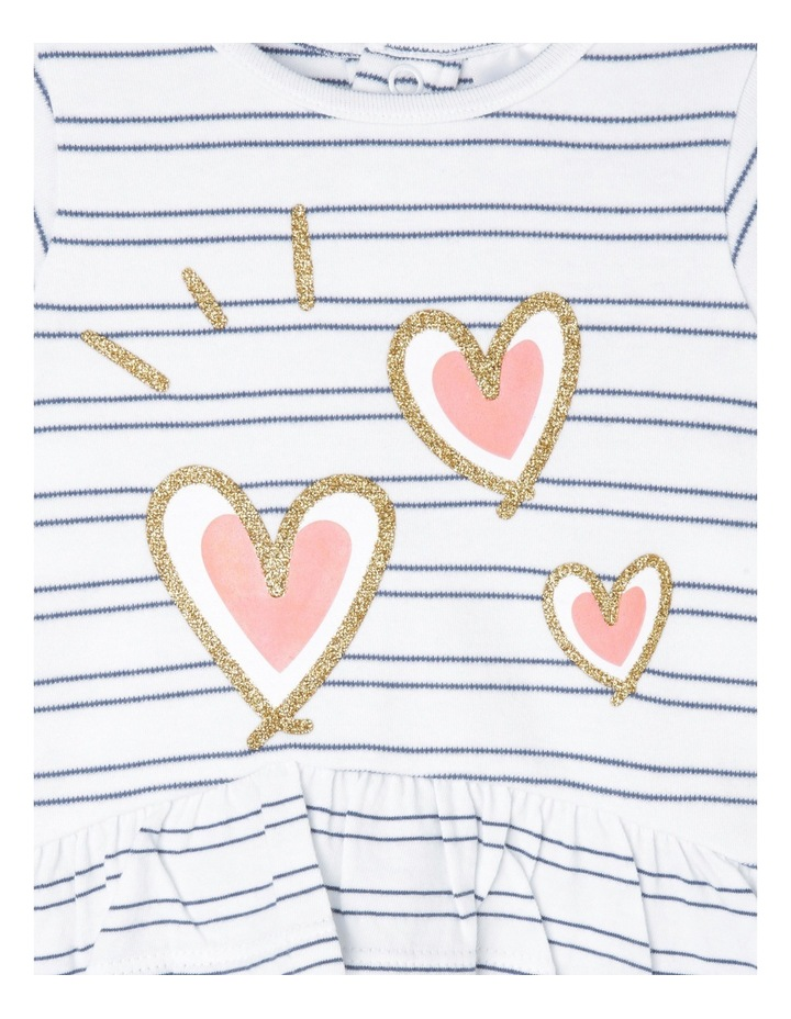 Heart and Stripe Frill Top image 2