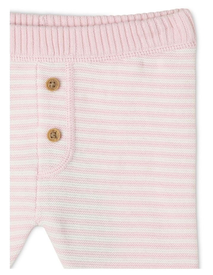 Organic Cotton Pink Striped Knitted Legging image 2