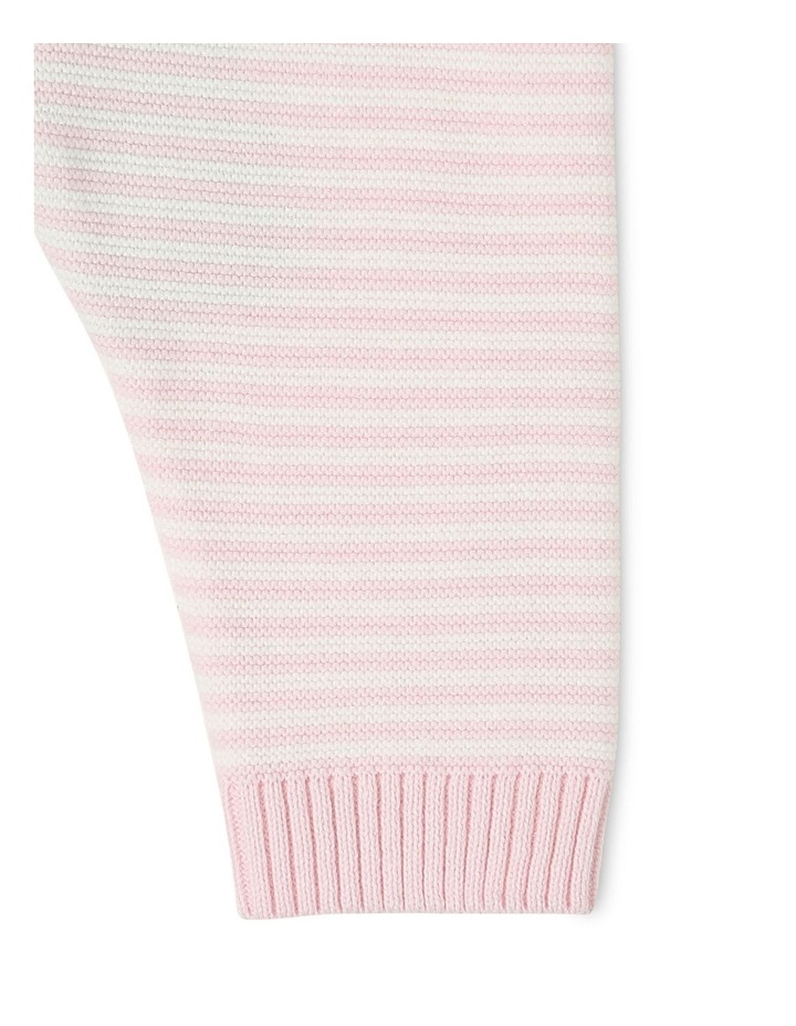 Organic Cotton Pink Striped Knitted Legging image 3