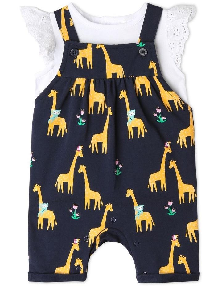 Giraffe Print Overall Set image 1
