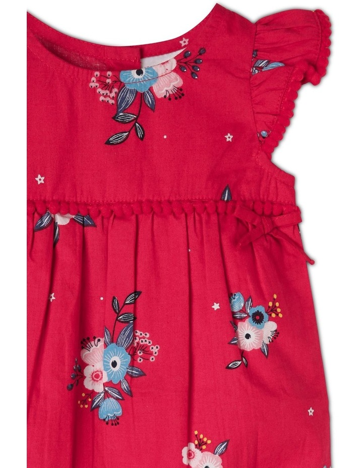Woven Romper With Bows image 3