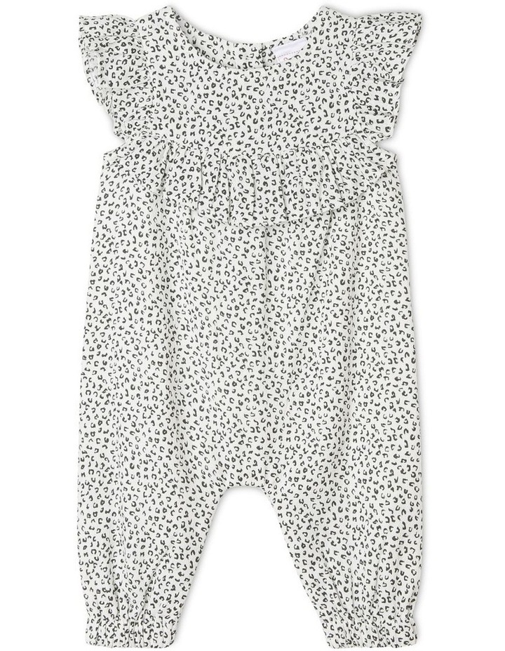 Cotton Crepe Coverall with Frill Bib image 1