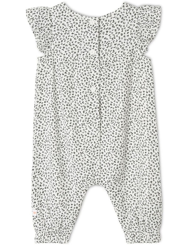 Cotton Crepe Coverall with Frill Bib image 2