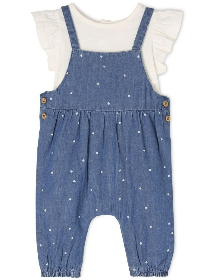 Chambray Overall With Flutter Sleeve image 1
