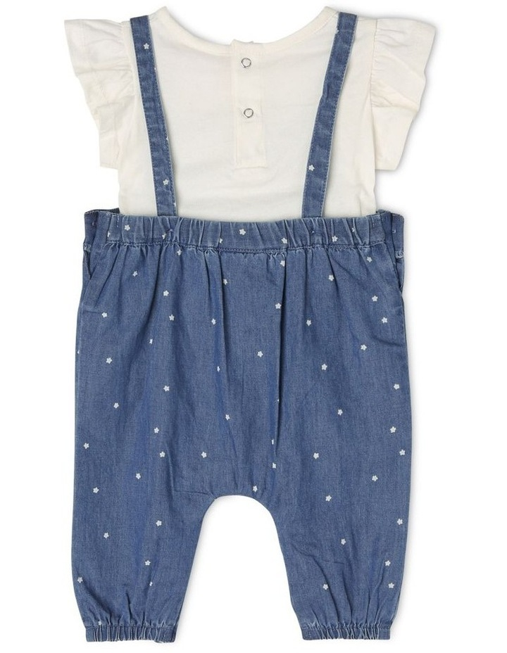 Chambray Overall With Flutter Sleeve image 2