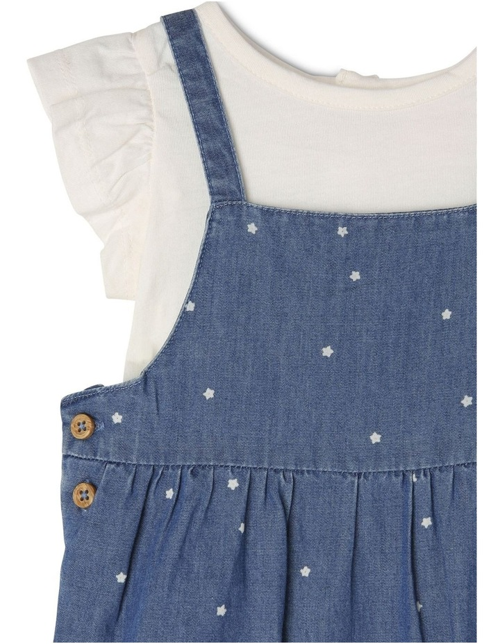 Chambray Overall With Flutter Sleeve image 3