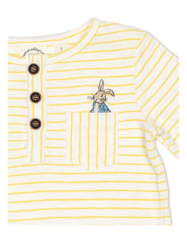 Stripe Long Sleeve Henley Tee image 3