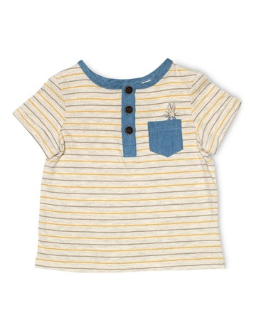 283750ab0f Peter Rabbit Henley Stripe Tee