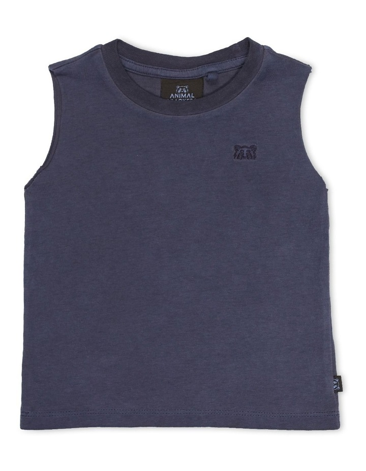 Mucho Muscle Tee Navy image 1