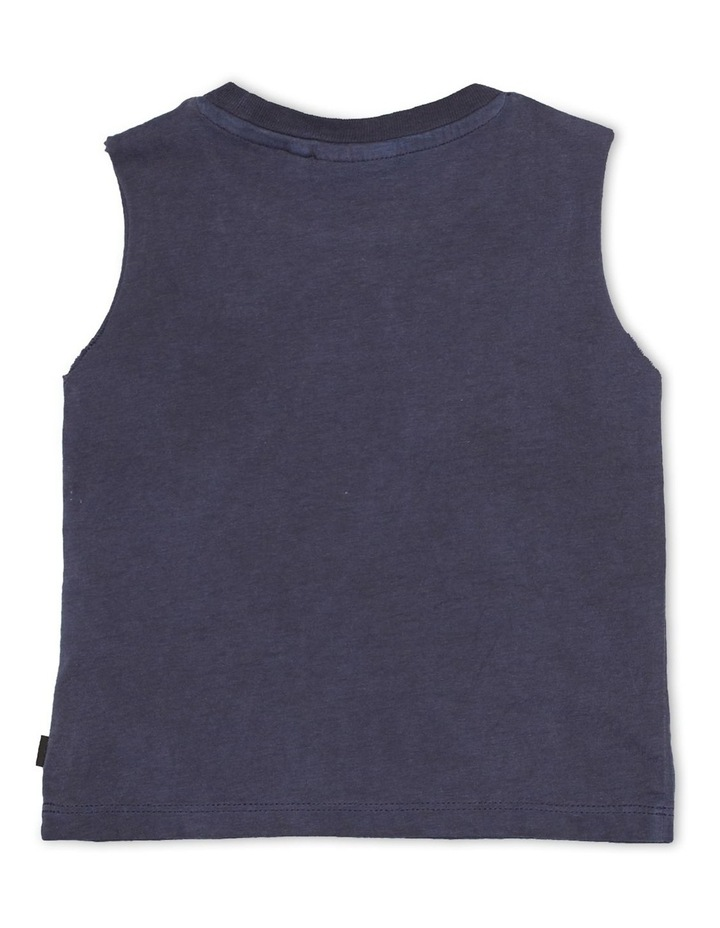Mucho Muscle Tee Navy image 2