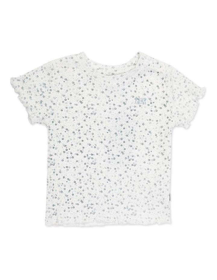 Overgrown Floral Rib T-Shirt White image 1