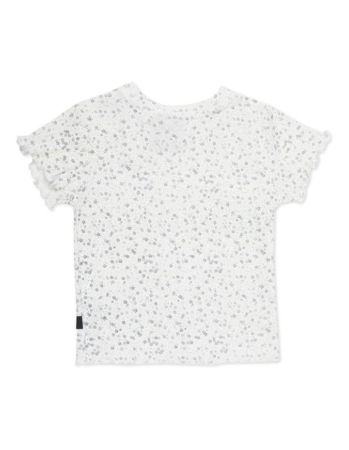 Overgrown Floral Rib T-Shirt White image 2