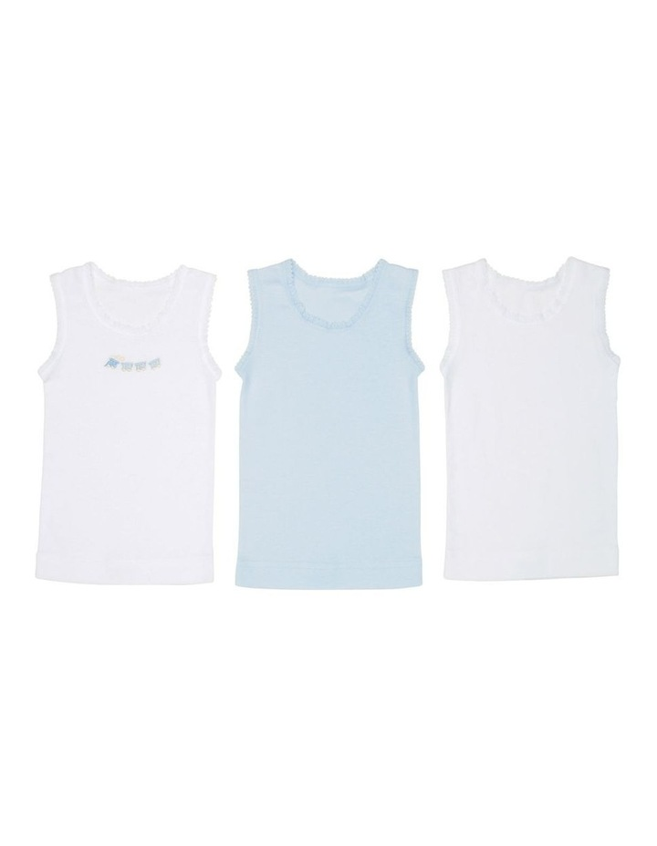 3 Pack Embroidered Singlet image 1