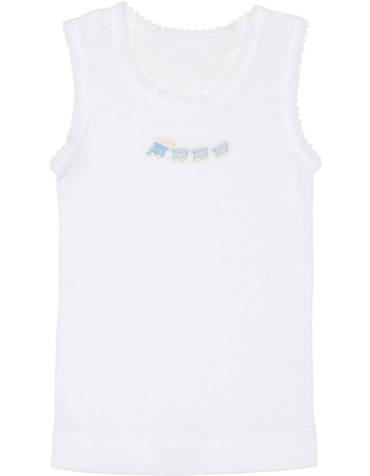 3 Pack Embroidered Singlet image 2
