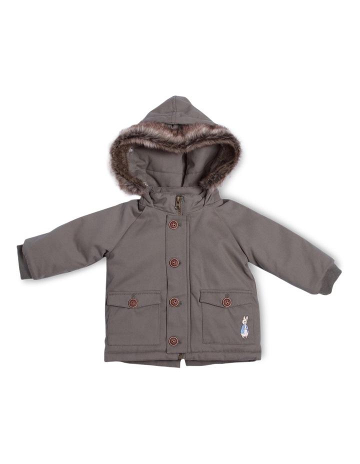 PR Boy Coat With Fur Trim Hood image 1