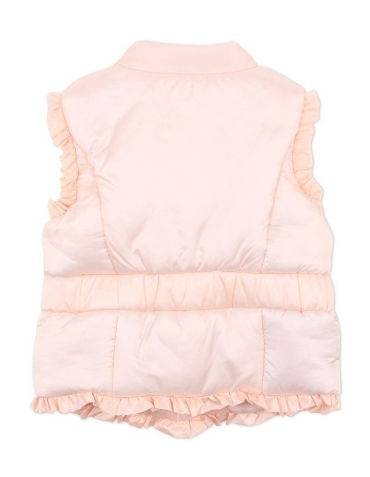 Rose Pale Pink Quilted Coat With Hood image 1