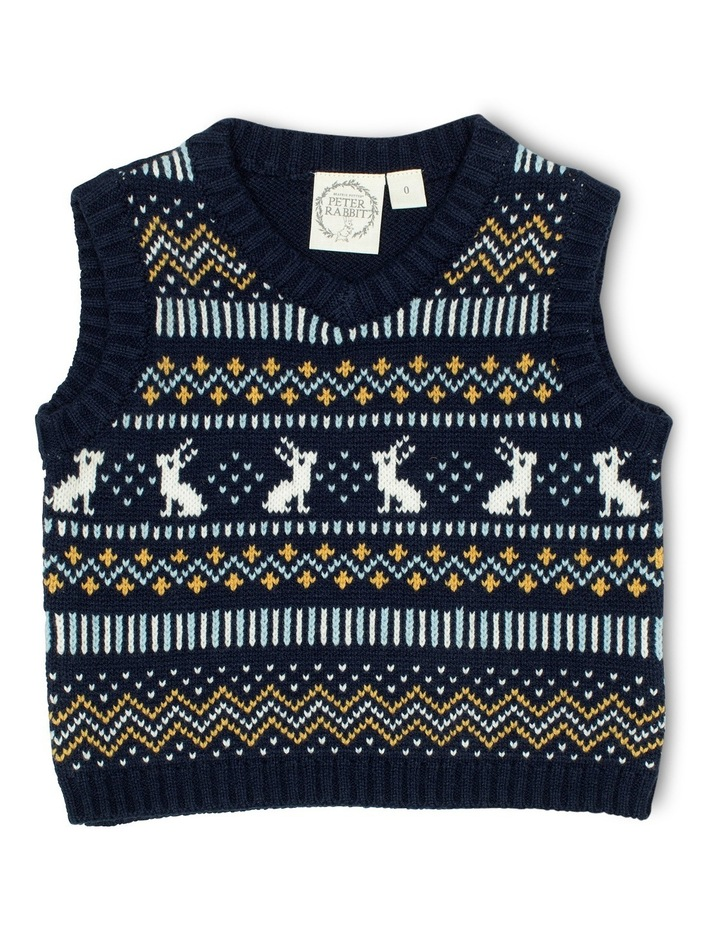 Boys Fully Fashioned Knit Vest image 1