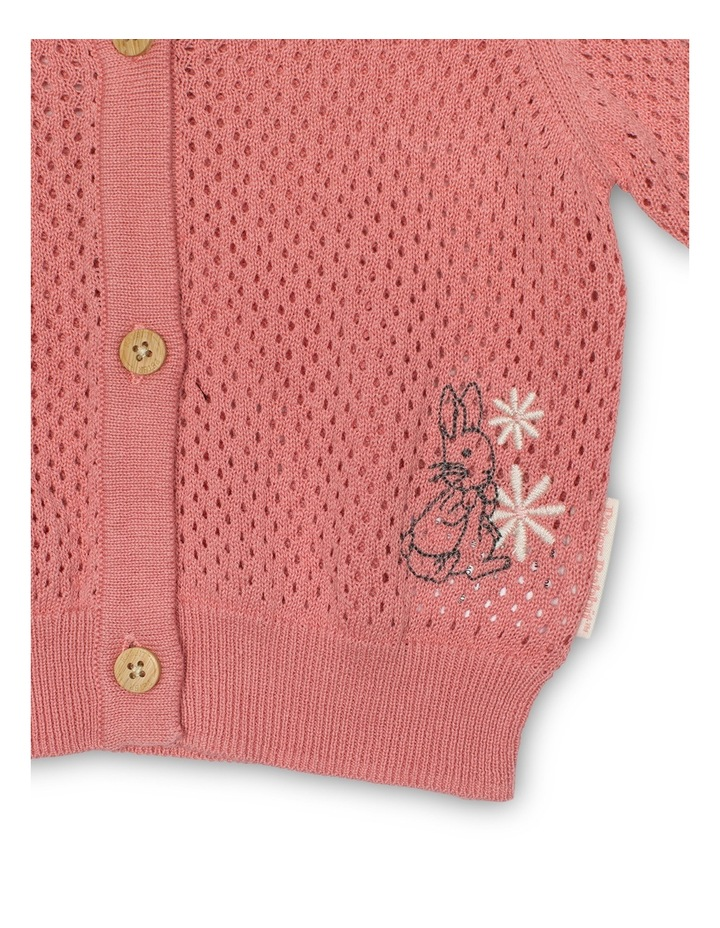 Girls Pointelle Cardigan image 2