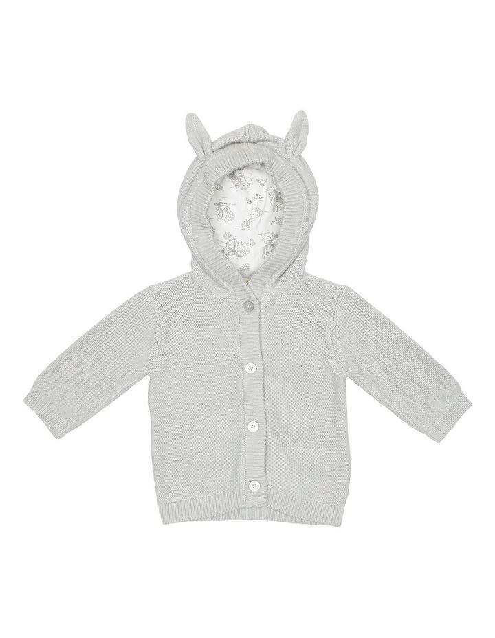 Grey Hooded Bunny Cardigan image 1