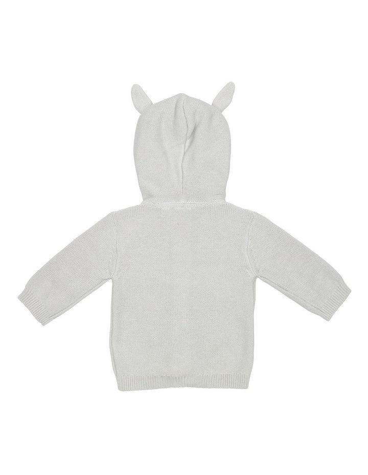 Grey Hooded Bunny Cardigan image 2
