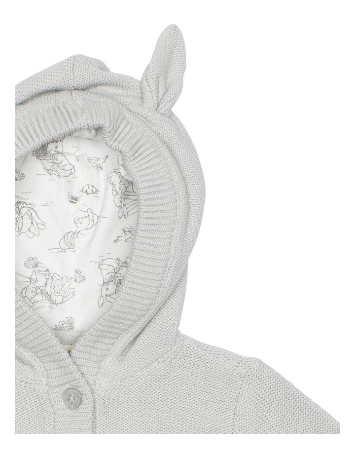 Grey Hooded Bunny Cardigan image 3