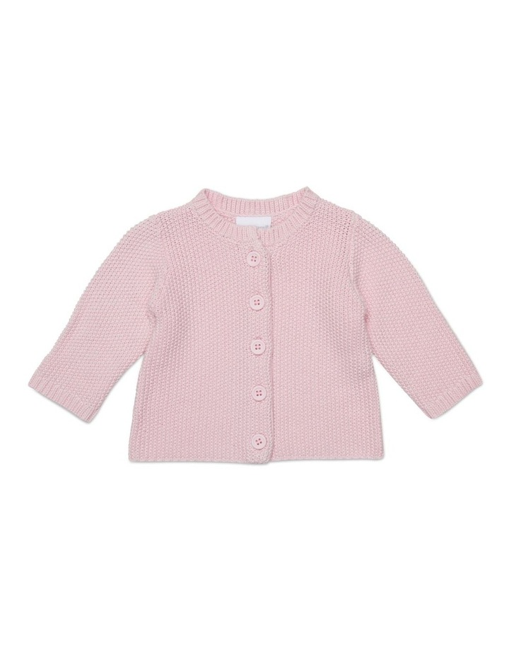 Pink Knitted Cardigan image 1