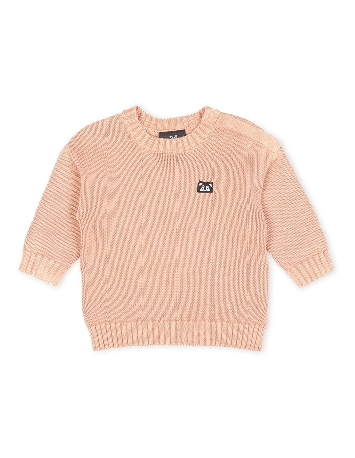 Knight Relaxed Knit Jumper Dusty Pink image 1