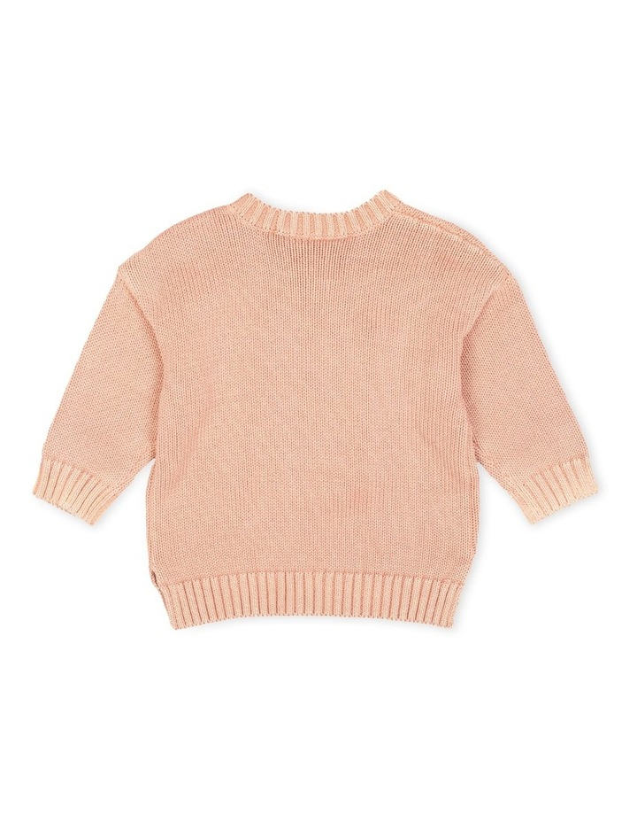 Knight Relaxed Knit Jumper Dusty Pink image 2