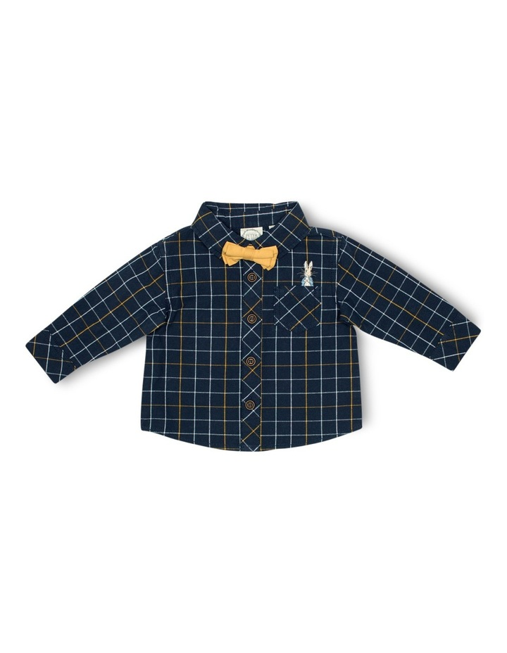 Boys Check Shirt With Bow Tie image 1