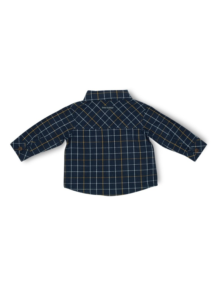 Boys Check Shirt With Bow Tie image 2