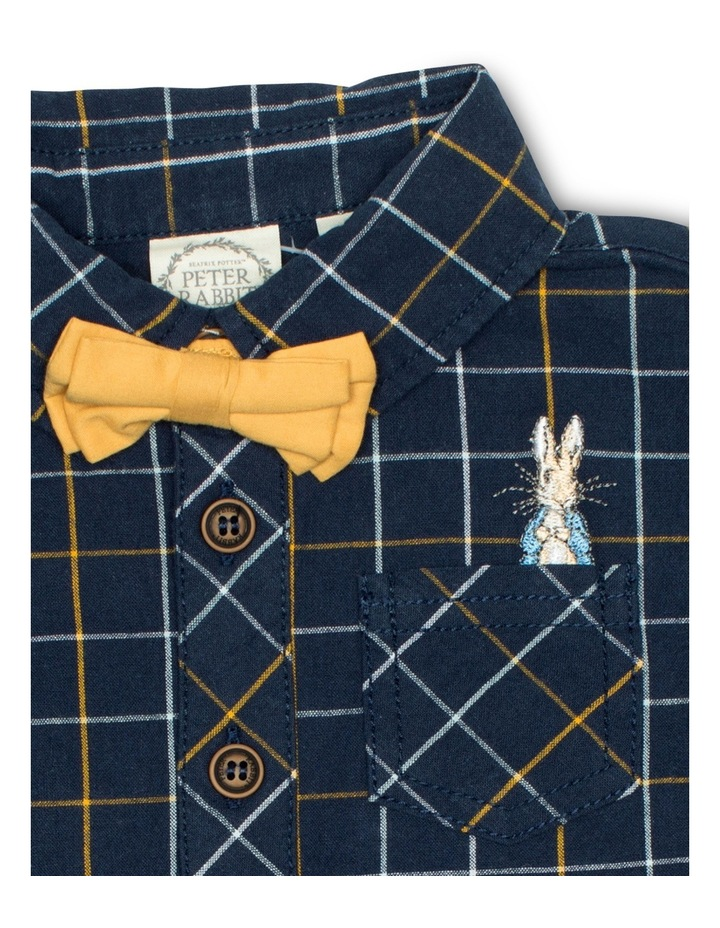 Boys Check Shirt With Bow Tie image 3