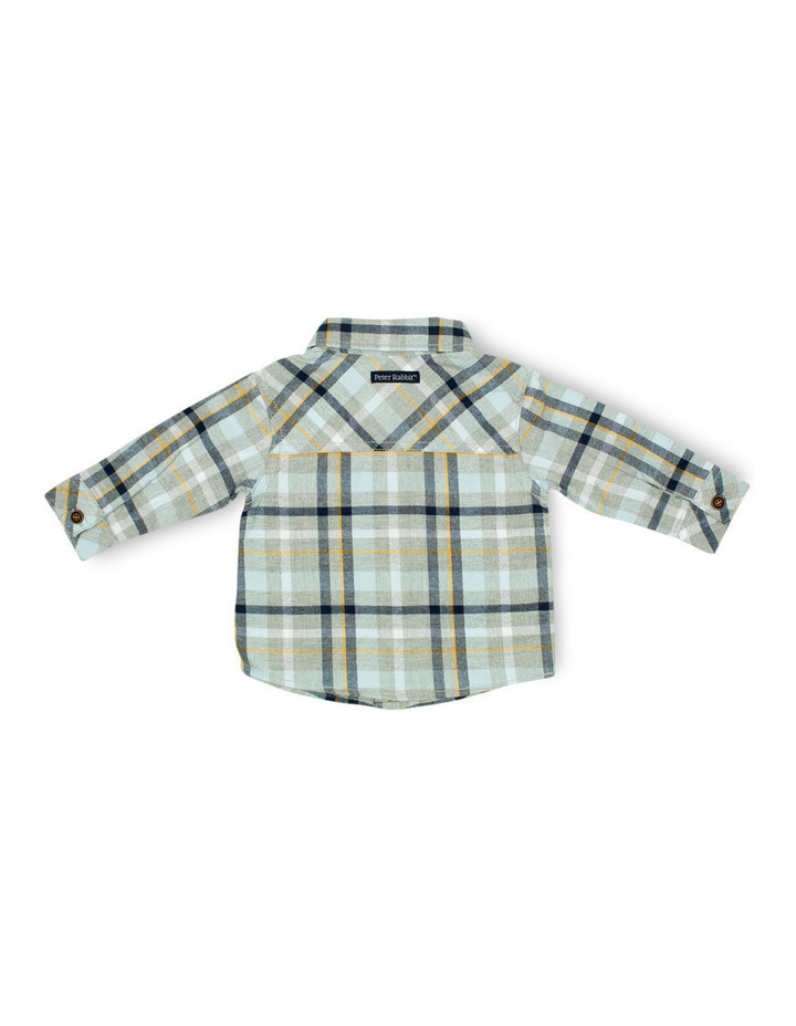 Boys Flannel Shirt With Bow Tie image 2