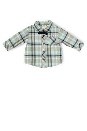 Peter Rabbit - Boys Flannel Shirt With Bow Tie