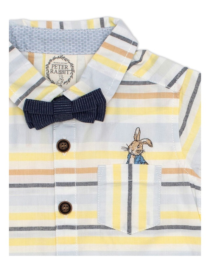 Stripe Shirt with Bow Tie image 3