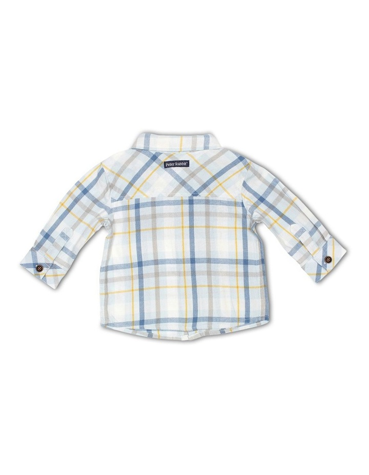 Cotton Check Shirt and Corduroy Bow Tie image 2