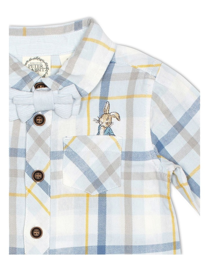 Cotton Check Shirt and Corduroy Bow Tie image 3