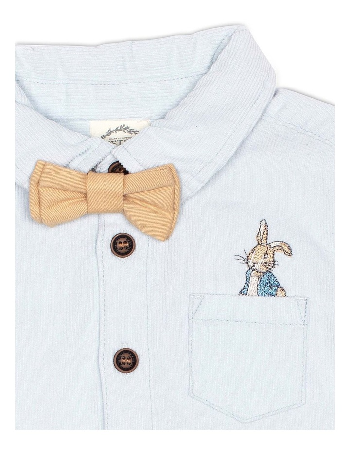 Corduroy Shirt and Mini Drill Bow Tie image 3