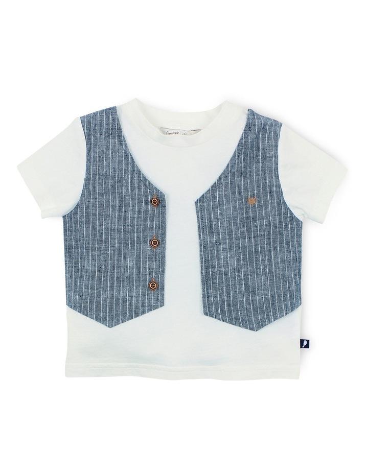 Little Mr Tee w Mock Vest image 1