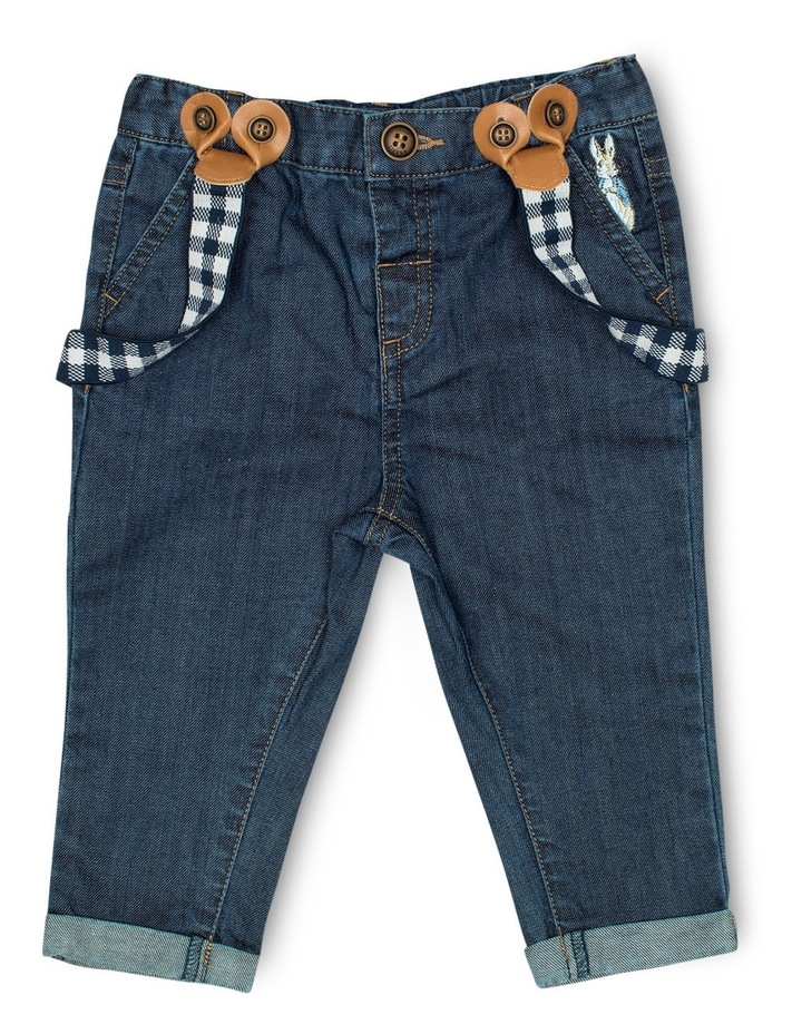 Boys Denim Jeans With Braces image 1