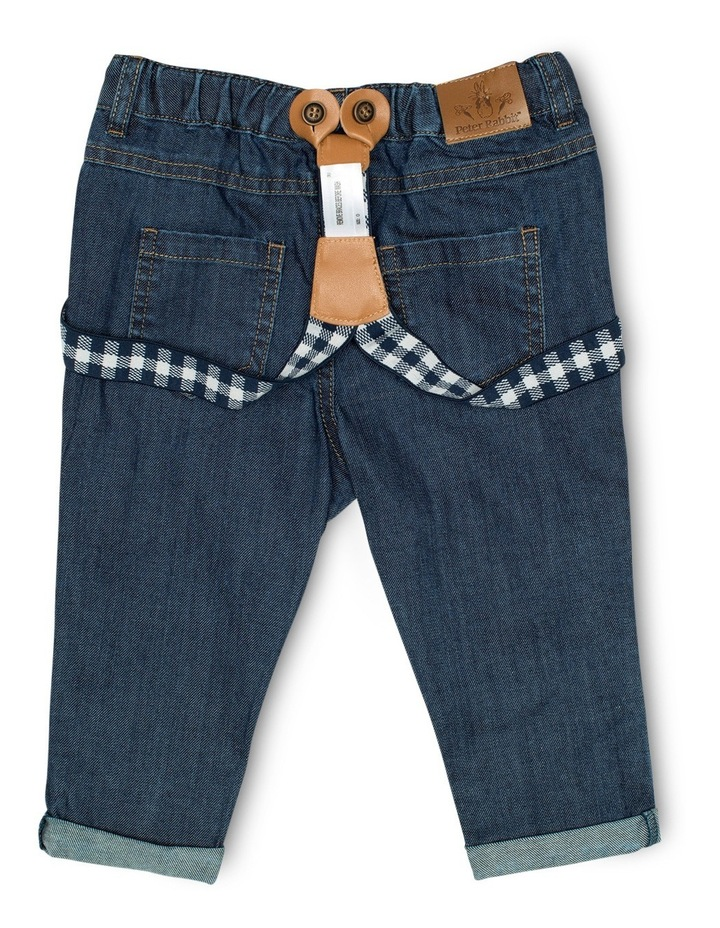 Boys Denim Jeans With Braces image 2