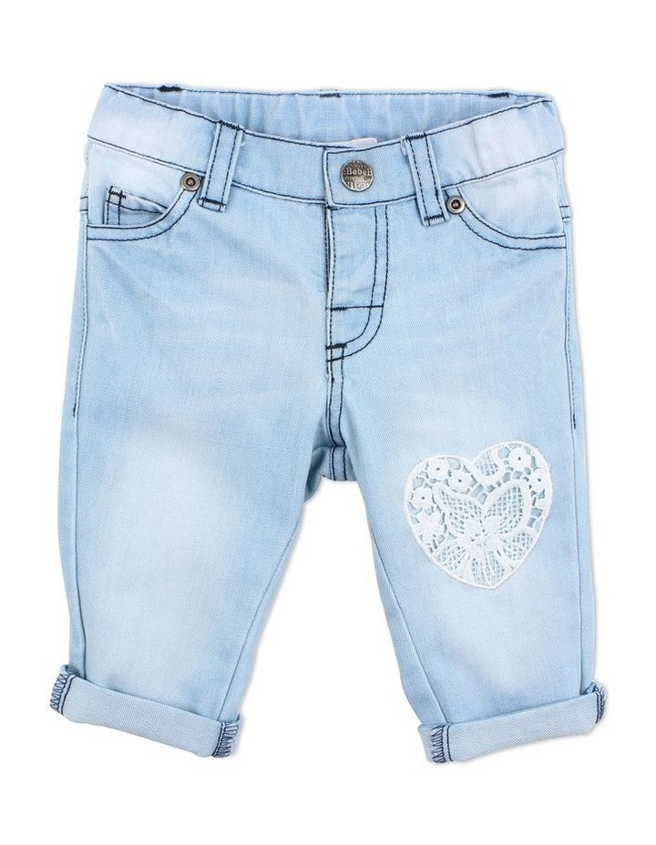 Layla Heart Patch Jeans image 1