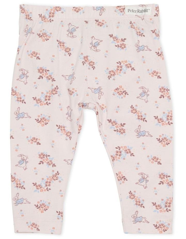 Peter Rabbit Floral Print Legging Pink image 1
