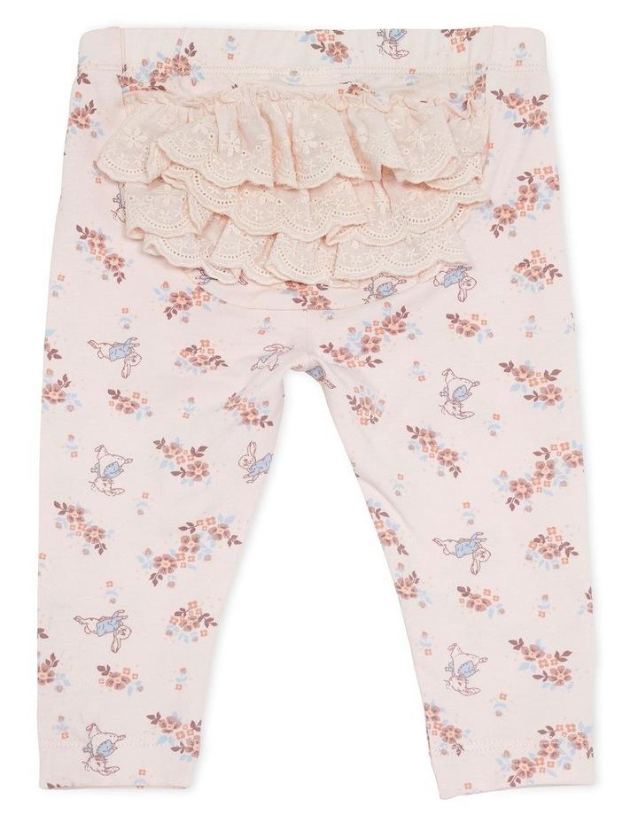 Peter Rabbit Floral Print Legging Pink image 2